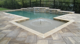 005 - Geometric Pool with Sunshelf and Raised Sheer Descents