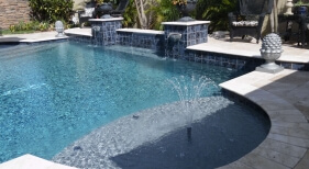 043 - Geometric Pool with Sunshelf, Sheer Descents and Scuppers