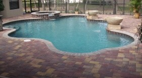 003 - Freeform Pool with Water Bowls