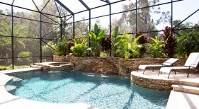 003 - Classic Pool with Raised Landscape