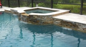 0030 - Raised Spa with Spillover