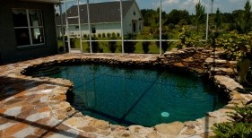 004 - Freeform Pool with Rock Waterfall