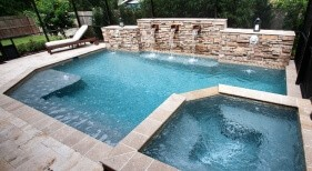 004 - Classic Pool and Spa with Raised Scupper Wall