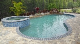 005 - Freeform Pool with Raised Spa