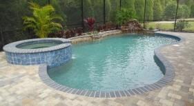 005 - Freeform Pool with Raised Spa