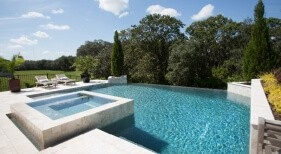 005 - Classic Pool with Raised Spa