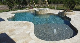 007 - Freeform Sunshelf Pool and Spa