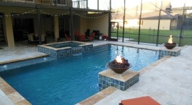 012 - Classic Pool and Spa with Fire Bowls