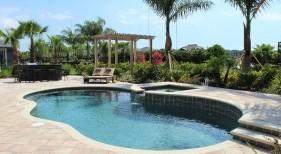 0150 - Freeform Pool with Raised Spa