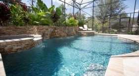 020 - Freeform Pool with Raised Spa and Landscape