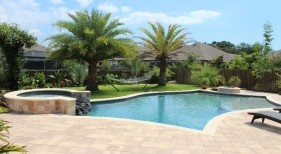 021 - Classic Pool with Raised Spillover Spa and Sunshelf