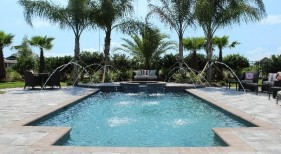 023 - Classic Pool with Raised Spa and Deck Jets