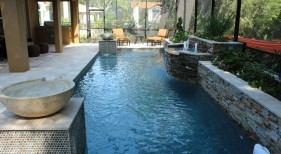 025 - Classic Pool with Raised Bubblers and Water Bowls