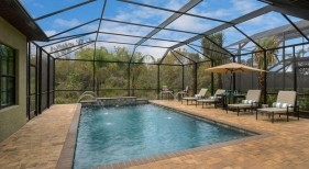030 - Classic Covered Pool with Deck Jets and Raised Sheer Descent