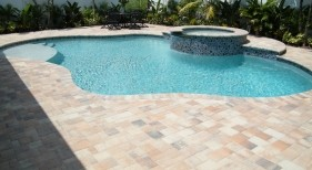 046 - Freeform Pool with Raised Spa