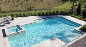 1008 - Classic Pool with Raised Spa
