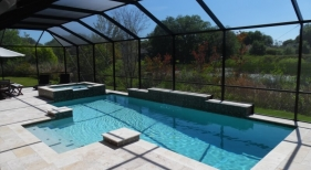 1010 - Classic Pool and Spa with Raised Wall