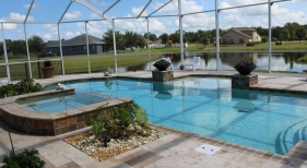 1016 - Covered Pool and Spa with Fire Bowls