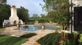 1023 - Classic Pool and Raised Spa with Outdoor Fireplace