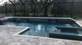 1025 - Classic Pool and Spa with Deck Jets and Sheer Descents