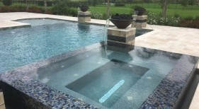 1027 - Classic Pool with Custom Spa and Water Bowls