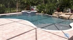 112 - Freeform Pool with Sunshelf