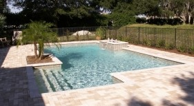 119 - Classic Pool with Raised Bubblers