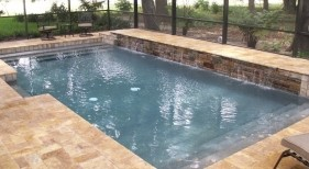 160 - Classic Pool with Raised Sheer Descent Wall