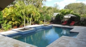 179 - Classic Pool with Raised Planters
