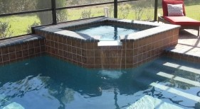 18 - Raised Square Spa with Spillway