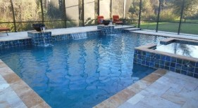 182 - Classic Pool and Spa with Water Bowls