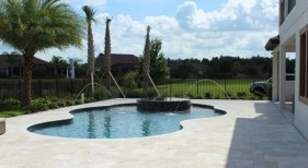 2002 - Freeform Pool with Raised Spa and Deck Jets