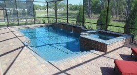 200 - Classic Pool with Raised Spa