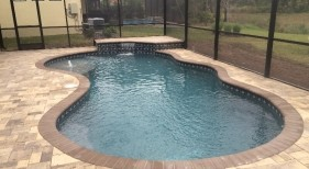 248 - Freeform Pool with Raised Wall and Spa