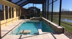 254 - Classic Pool with Table and Benches