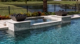 3003 - Square Spa with Fire Bowls