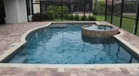 302 - Classic Pool and Raised Spa