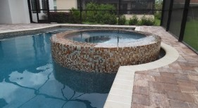 309 - Raised Overflow Spa with Tile