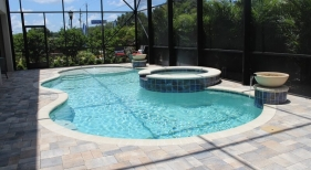 413 - Freeform Pool with Water Bowls