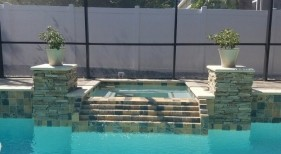 415 - Raised Spa with Tiered Spillway