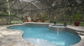 419 - Covered Freeform Pool with Raised Spa