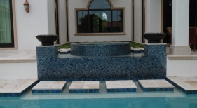 427 - Raised Spa with Fire Bowls