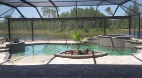 436 - Freeform Pool with Raised Spa