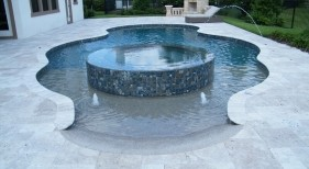 2006 - Freeform Pool with Beach Entry and Raised Spa