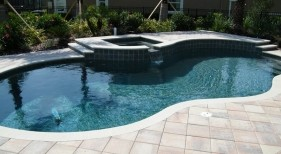 2007 - Freeform Pool with Raised Spa