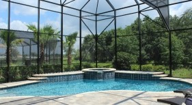 2003 - Covered Freeform Pool with Raised Spa