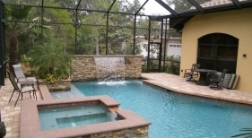 3022 - Stacked Stone Spa