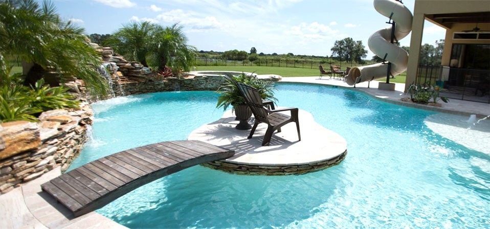 Pools interior design for Pool design tampa florida