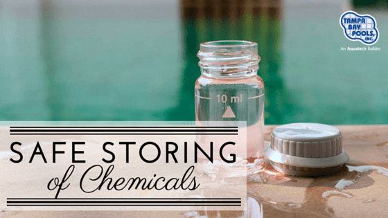 store pool chemicals