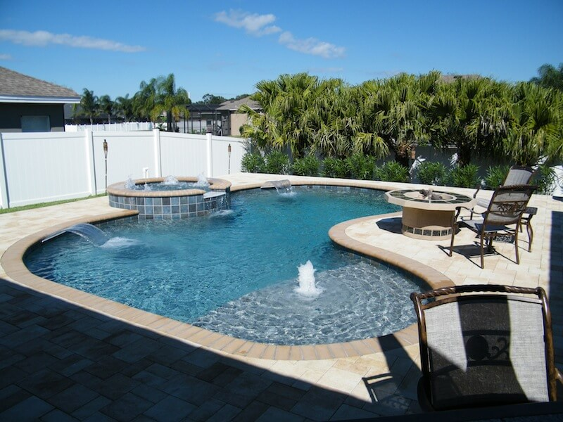 Tampa bay outdoor living brandon backyard for Pool design trends 2018